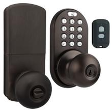 3-in-1 Remote Control & Touchpad Doorknob (Oil Rubbed Bronze)