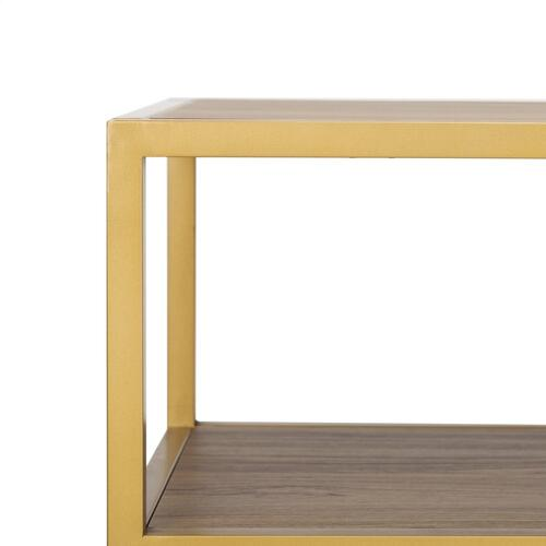 Safavieh - Reese Geometric Console Table - Walnut / Black