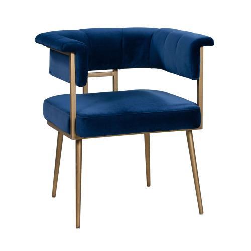 Astrid Navy Velvet Chair