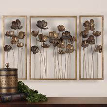Metal Tulips Wall Decor, S/3