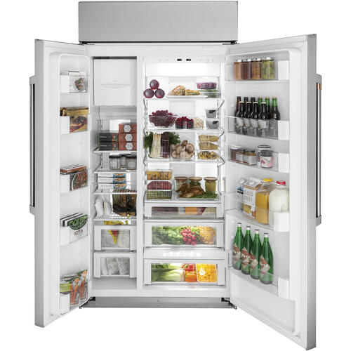 "Café 42"" Built-In Side-by-Side Refrigerator Stainless Steel"