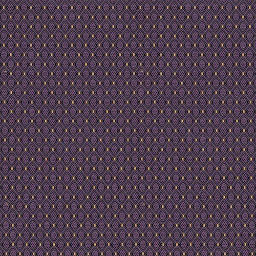 Flash Furniture - 18.5''W Church Chair in Canterbury Purple Fabric - Gold Vein Frame