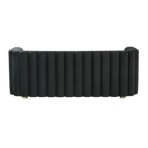 Tov Furniture - Callie Black Velvet Sofa