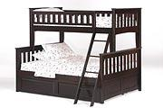 Ginger Twin Full Bunk in Dark Chocolate Finish
