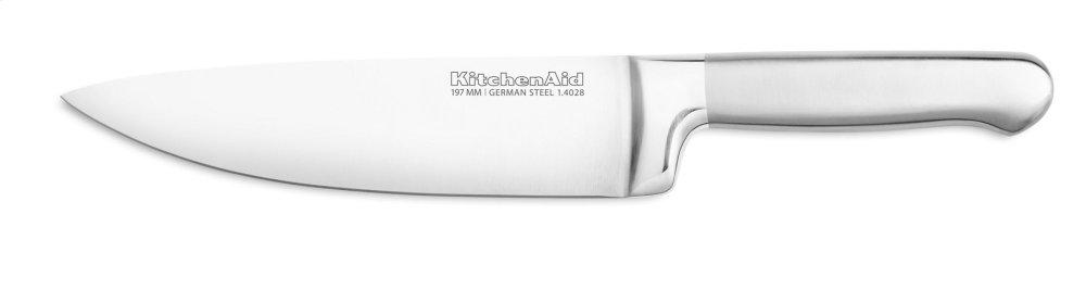 Classic Forged 8-Inch Brushed Stainless Chef Knife - Stainless Steel