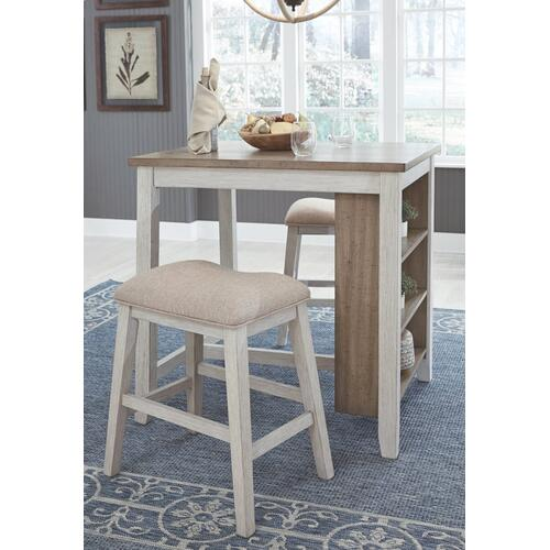 Skempton Counter Height Dining Table and Bar Stools (set of 3)