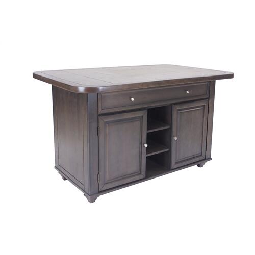 CY-KITT02-AG  Kitchen Island  Grey Tile Top