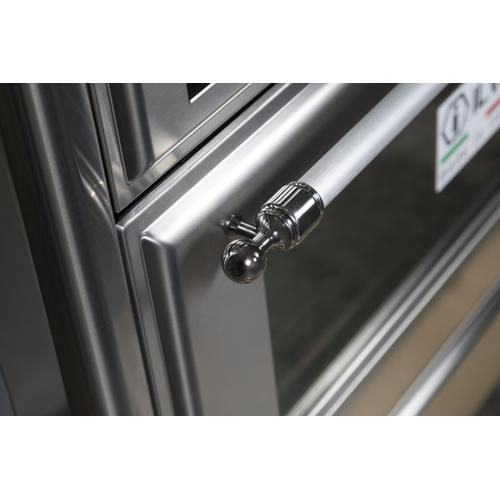 Gallery - Majestic II 48 Inch Dual Fuel Liquid Propane Freestanding Range in Stainless Steel with Chrome Trim