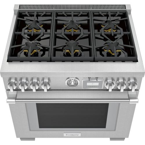 Dual Fuel Professional Range 36'' Pro Grand® Commercial Depth Stainless Steel PRD366WGU