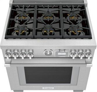 Gas Freestanding Range 36'' Pro Grand™ Commercial Depth Stainless steel PRG366WG