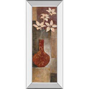 """""""Baroque Floral I"""" By Rosie Abrahams Mirror Framed Print Wall Art"""