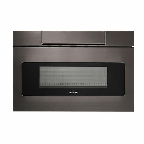 View Product - 24 in. 1.2 cu. ft. 950W Sharp Black Stainless Steel Microwave Drawer Oven