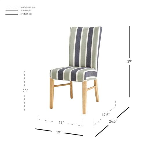 Milton Fabric Dining Side Chair NWO Legs, Hurley Stripe Blue