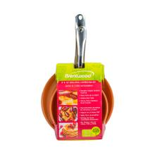 See Details - Brentwood BFP-2810C 8-inch and 10-inch Non-Stick Induction Copper Frying Pan Set