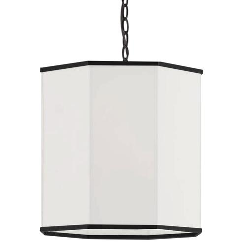 1lt Pendant, Mb W/ Wh Shade and Bk Trim