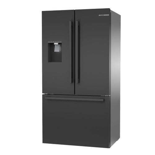 500 Series French Door Bottom Mount 36'' Black stainless steel B36CD50SNB