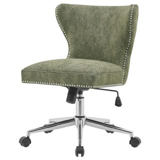 See Details - Hazel KD Fabric Office Chair, Smash Green