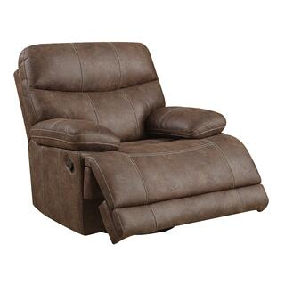 Earl Swivel Glider Recliner Sanded Micro Brown