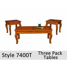 See Details - 7400T - Three Pack Tables