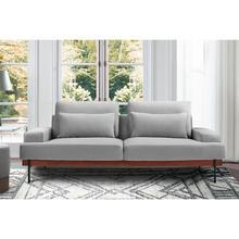 """Monet 86"""" Gray Velvet Sofa"""