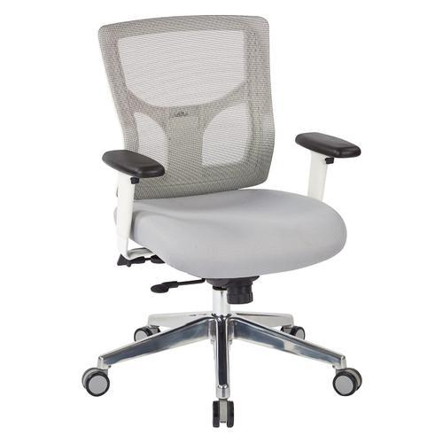 Progrid® White Mesh Mid Back Chair