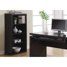 """BOOKCASE - 48""""H / CAPPUCCINO WITH ADJUSTABLE SHELVES"""