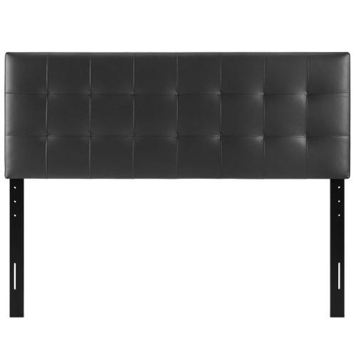 Lily King Upholstered Vinyl Headboard in Black