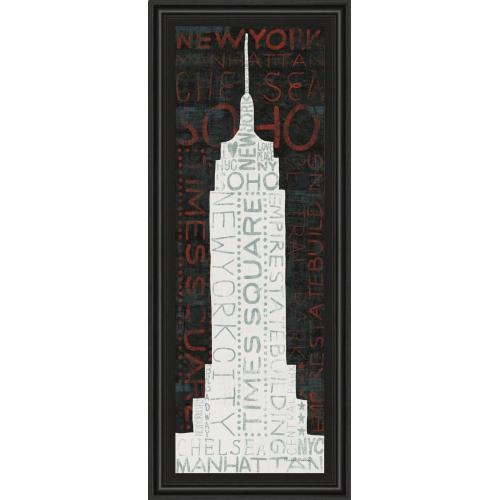 """Classy Art - """"Empire State Building"""" By Micheal Mullan Framed Print Wall Art"""