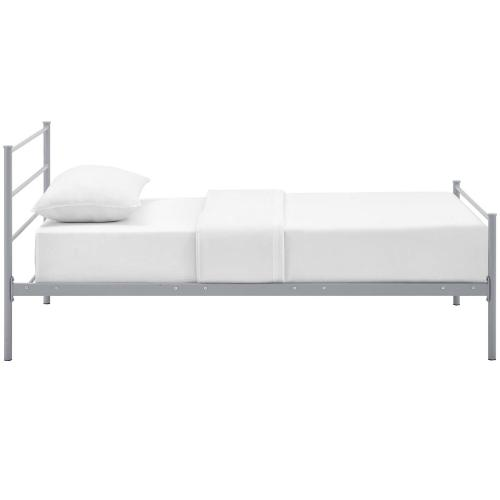 Alina Twin Platform Bed Frame in Gray