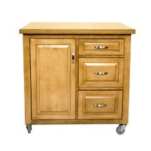 PK-CRT-04-LO  Kitchen Cart  Light Oak