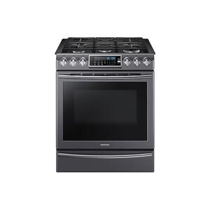 Samsung Appliances5.8 cu. ft. Slide-In Gas Range with True Convection in Black Stainless Steel