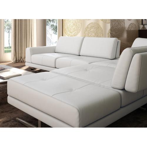 Accenti Italia Bellagio Italian Modern White Leather Sectional Sofa