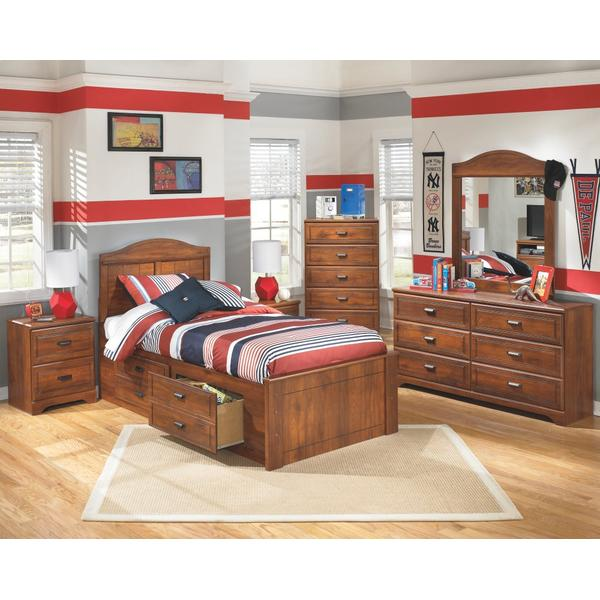 Barchan Twin Panel Bed With 2 Storage Drawers