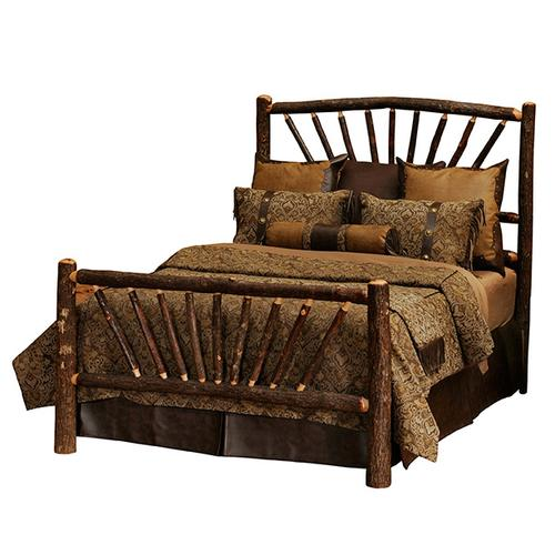 Sunburst Bed - Queen - Cognac