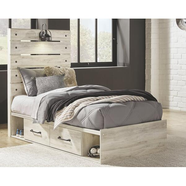 Cambeck Twin Panel Bed With 2 Storage Drawers