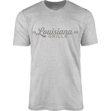 See Details - Louisiana Grills Men's Athletic Heather Script Logo T-Shirt