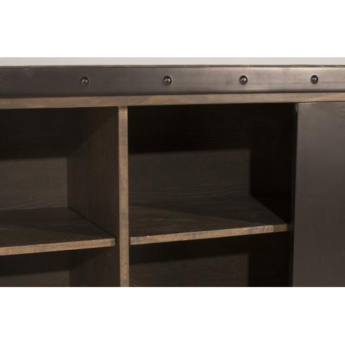 Product Image - Jennings Entertainment Center With 4 Shelves and Sliding Door - Distressed Walnut