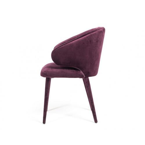 Modrest Salem Modern Purple Fabric Dining Chair