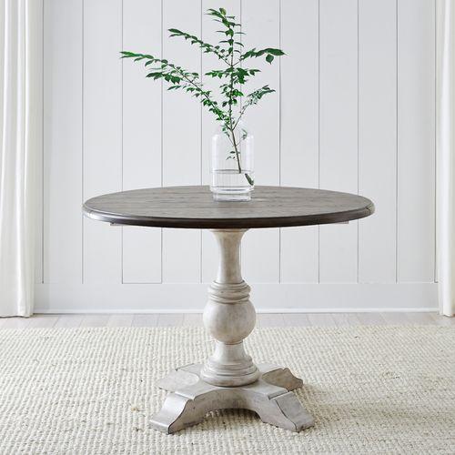 Drop Leaf Single Pedestal Base