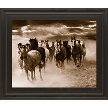 """Running Horses"" By Monte Naglar Framed Photo Print Wall Art"