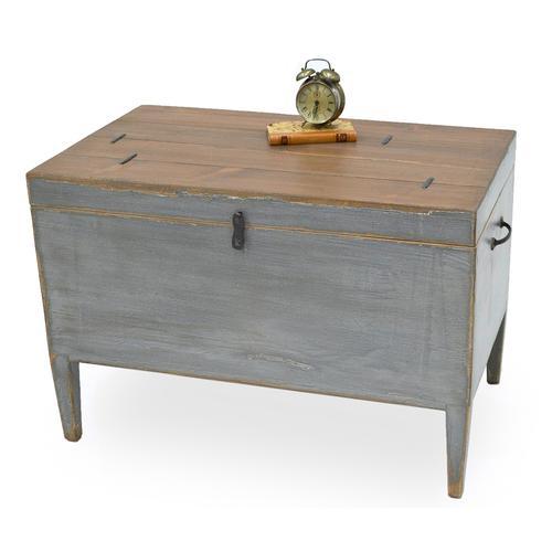 Trunk Side Table W/ Secret Storage