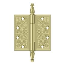"""4-1/2"""" x 4-1/2"""" Square Hinges - Unlacquered Brass"""
