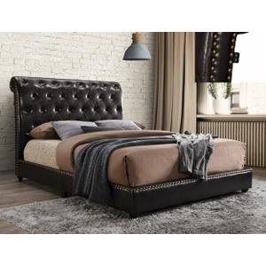 Janine Qn Platform Bed W/usb Pu