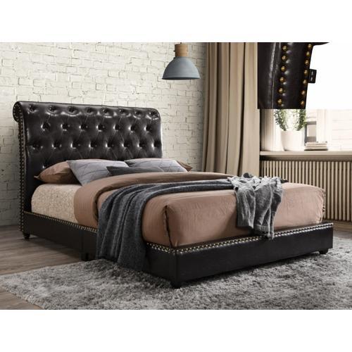 Janine Kg Platform Bed W/usb Pu