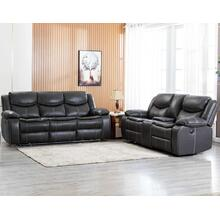 8006 GRAY 2PC Air Leather Power Recliner & USB Sofa SET