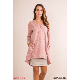 Your Everyday Heathered Tunic - XS (3 pc. ppk.)