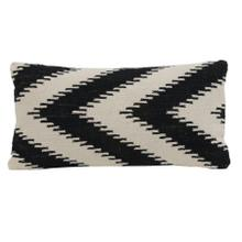 6816412 - Pillow 60x30 cm ARROCCA black-white hook print
