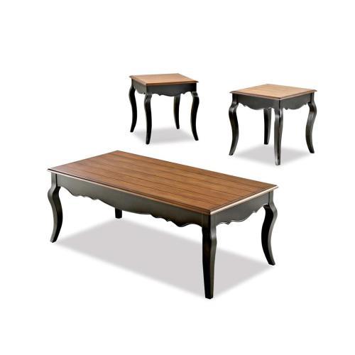 Klaussner - Living Room 3 Table Pack, 2 End,1 Cocktail 201-001 3PAK