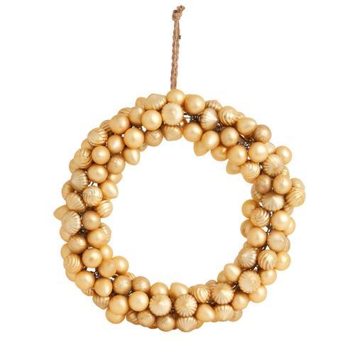"Product Image - Rejoice Wreath (Size:16.5""x 3"", Color:Gold)"