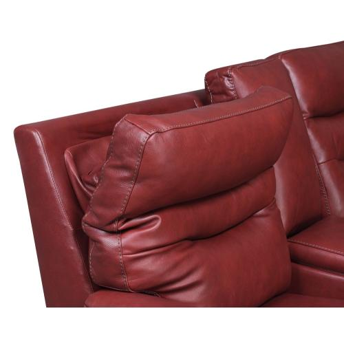 Gallery - Fortuna Wine 3-Piece Dual-Power Leather Reclining Set(Sofa, Loveseat & Chair)